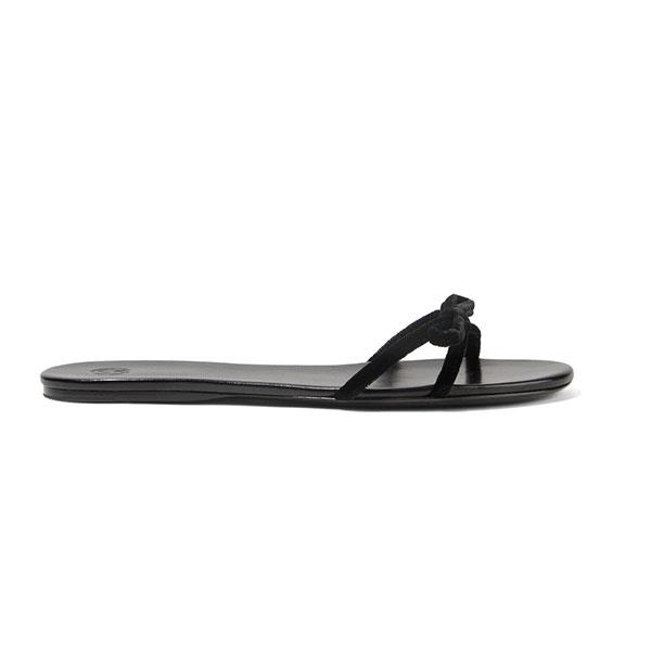 """The only thing more enticing than the simple, elegant design of these velvet sandals by The Row is the fact that they're currently on sale at Net-a-Porter.  <br><br> Sandals by The Row, $446 at [Net-a-Porter](https://www.net-a-porter.com/au/en/product/1039160?cm_mmc=Google-ProductSearch-AU--c-_-Net-a-Porter-AUPLA-_-AU+-+GS+-+SALE+-+High--SS18+sale-_-__pla-336522920389_APAC&gclid=EAIaIQobChMI6e_9xPPy2wIVlomPCh3bWgF0EAQYAiABEgKN_fD_BwE&gclsrc=aw.ds