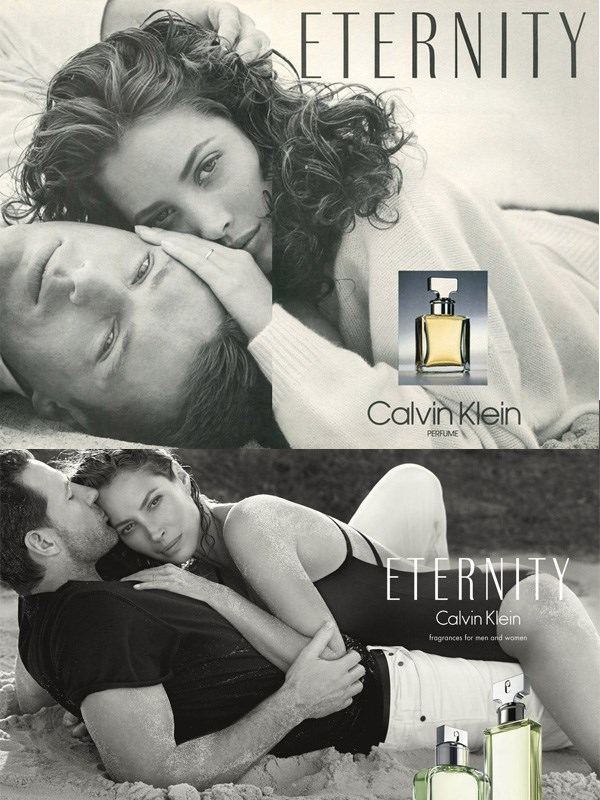**CHRISTY TURLINGTON** <br><br> Christy Turlington's commercial for *Calvin Klein Eternity* helped launch her to stardom in 1989.  <br><br> 25 years later, the bona-fide supermodel appeared in a new commercial for the same exact fragrance—but this time with her husband, actor Ed Burns.