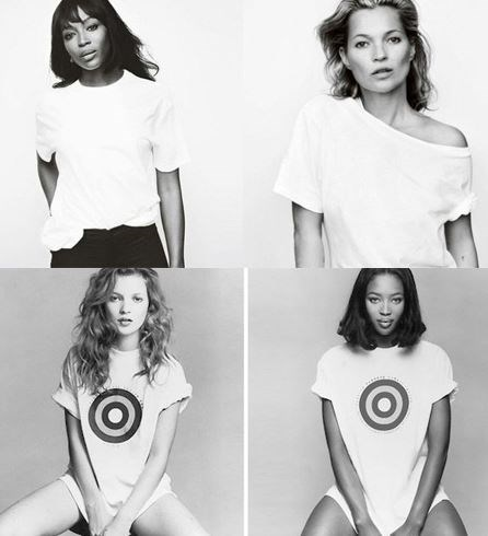 **NAOMI CAMPBELL AND KATE MOSS** <br><br> In 1996, Naomi Campbell and Kate Moss appeared in one of the most iconic health campaigns of the '90s, promoting breast cancer awareness (below). <br><br> But in 2016, the supermodels joined forces to appear in an updated version of the campaign, photographed by Mario Testino (above).