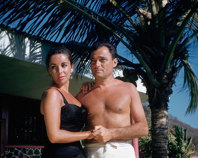 Elizabeth Taylor and Mike Todd in Mexico in February 1957