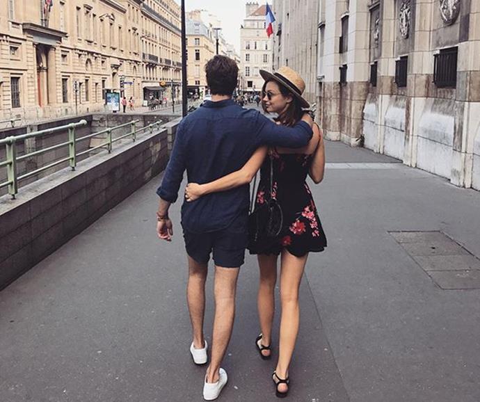 Ksenija Lukich and Dan Bragg on their belated honeymoon in France in July, 2017