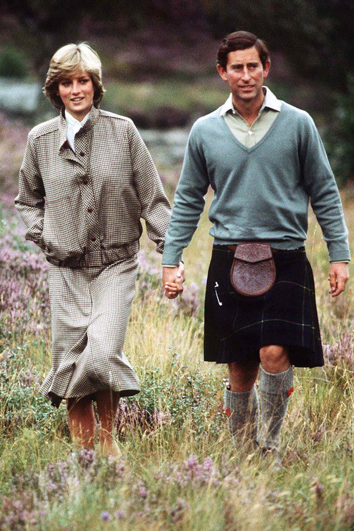 Princess Diana and Charles at Balmoral in August 1981