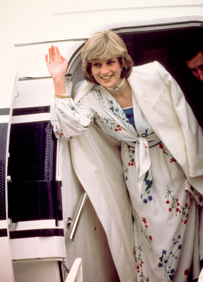 Princess Diana and Charles leaving for Balmoral in August 1981