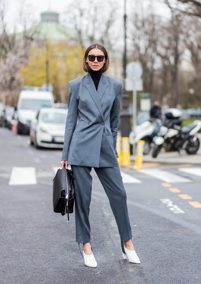 """***Under a suit***<br> Whether we're at after-work drinks, work, brunch, a wedding, [*our* wedding](https://www.harpersbazaar.com.au/fashion/emily-ratajkowski-wedding-day-zara-suit-15848