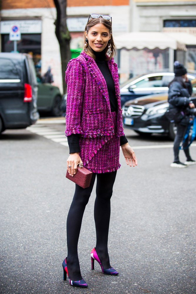 ***Under a skirt-suit***<br> Despite inspiration fresh out of the royal family, we tend to shelve our skirt-suits in the colder months. But with the addition of thick black tights and your turtleneck, skirt-suits go from summer-only to winter-perfect.