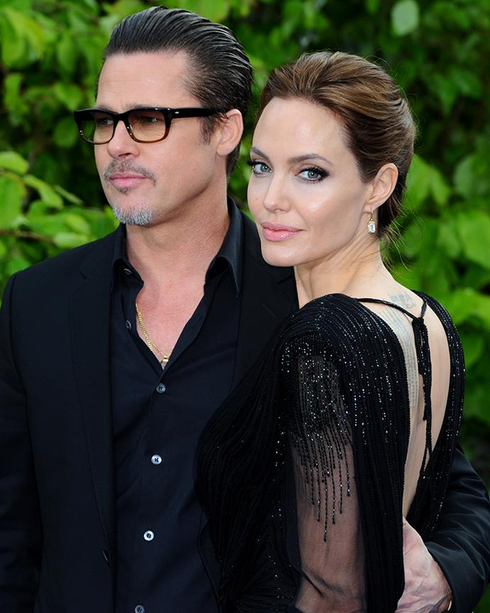 """**Angelina Jolie and Brad Pitt**  <br><br> Before Angelina Jolie and Brad Pitt's famous divorce in 2016, the couple had reportedly been living separately under the same roof for a while. """"Angelina basically had her own wing and he had his,"""" a source close to Brad told [*US Weekly*](http://www.dailymail.co.uk/tvshowbiz/article-3811826/How-Brad-Pitt-Angelina-Jolie-stayed-wings-Hollywood-Hills-estate-marriage-fell-apart.html
