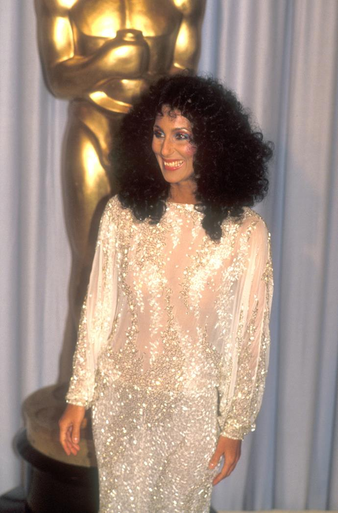 Cher at the 55th Academy Awards, 1983