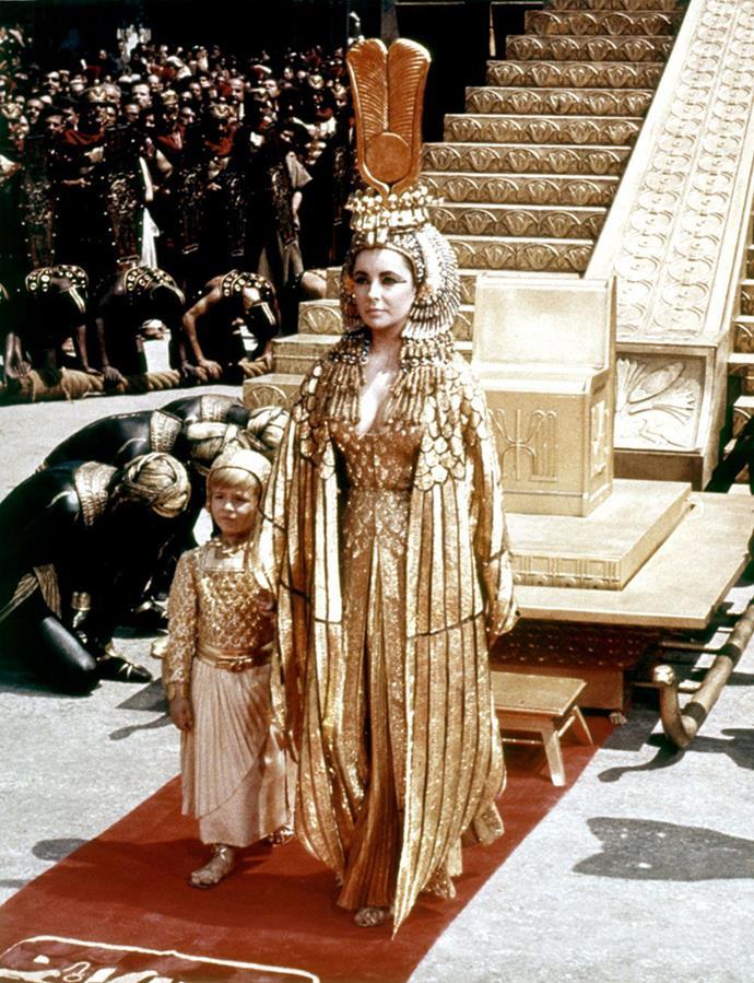 Elizabeth Taylor in *Cleopatra*, 1963