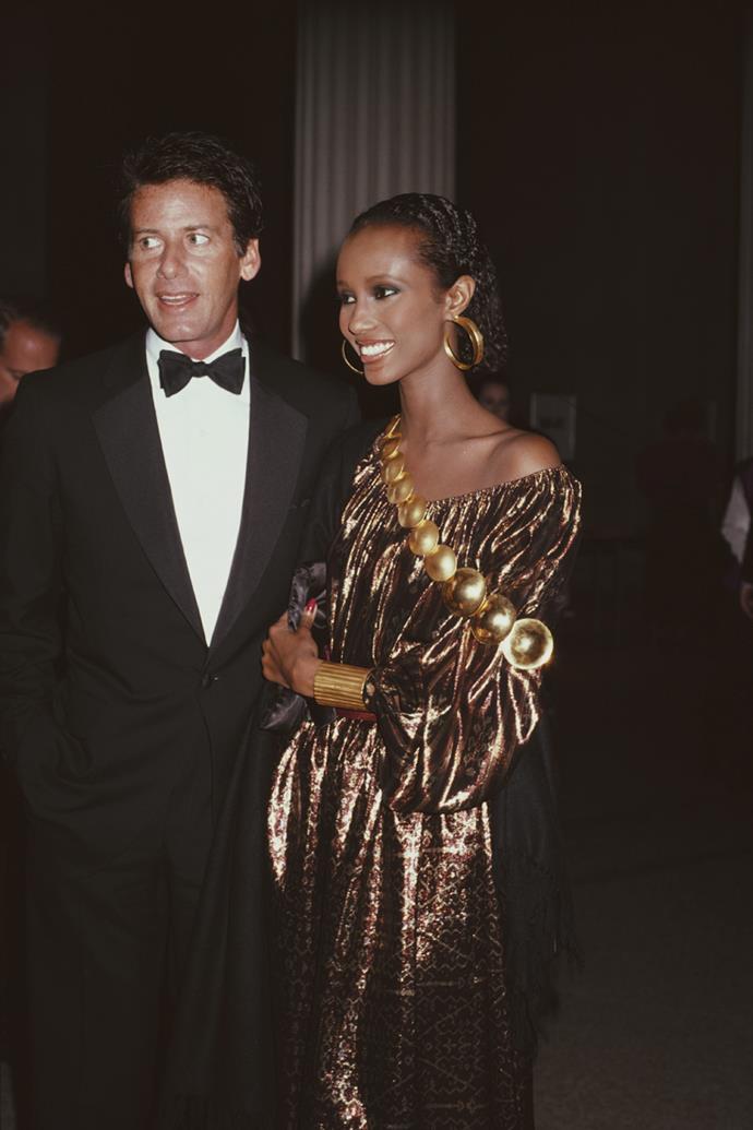 Iman at The Met Gala, 1981