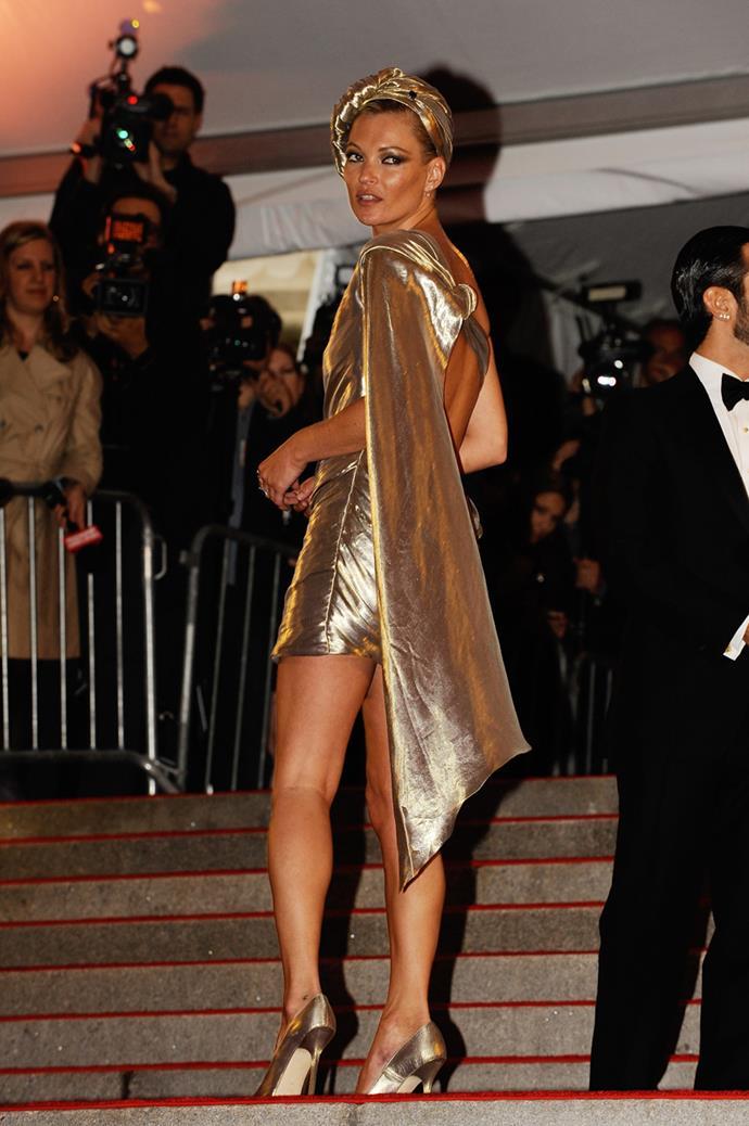 Kate Moss at The Met Gala, 2009