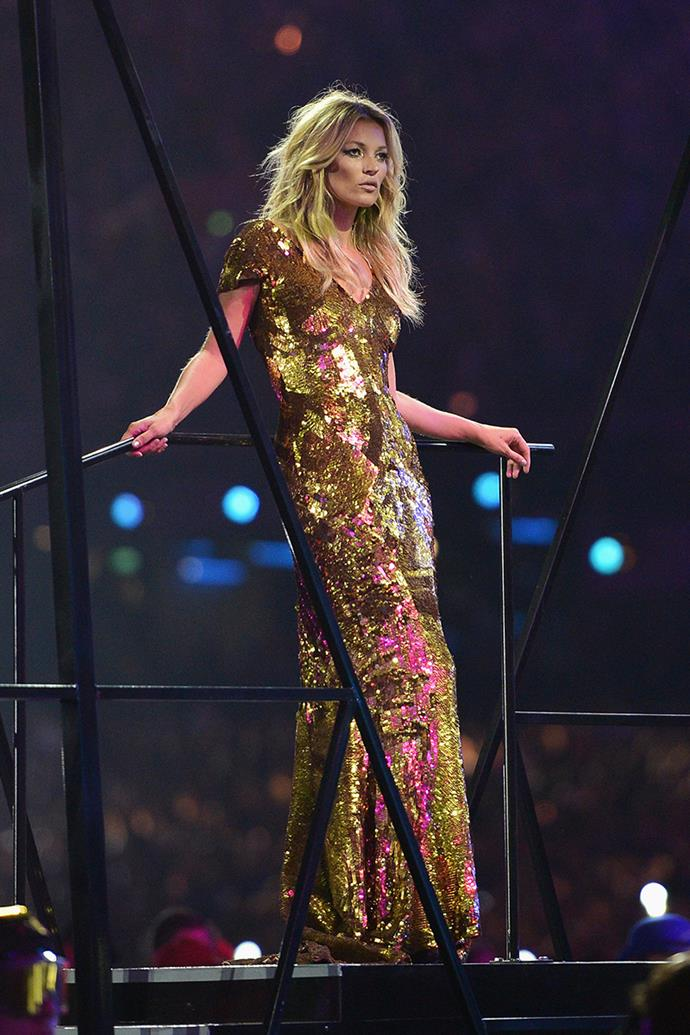 Kate Moss at the Olympic Closing Ceremony, 2012