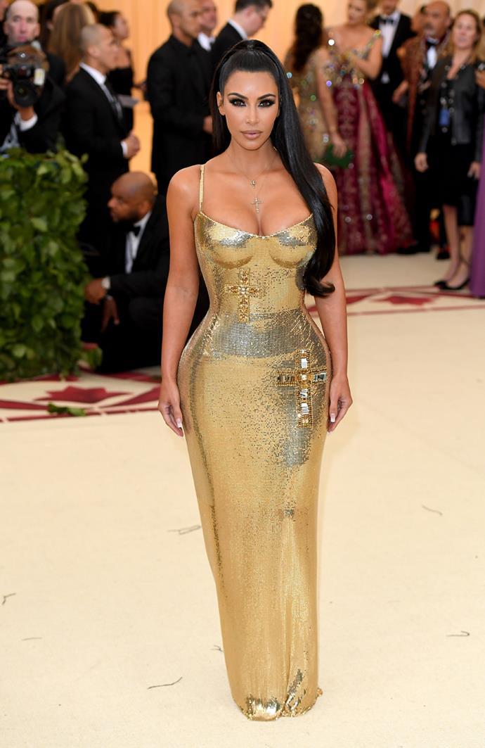 Kim Kardashian at the Met Gala, 2018