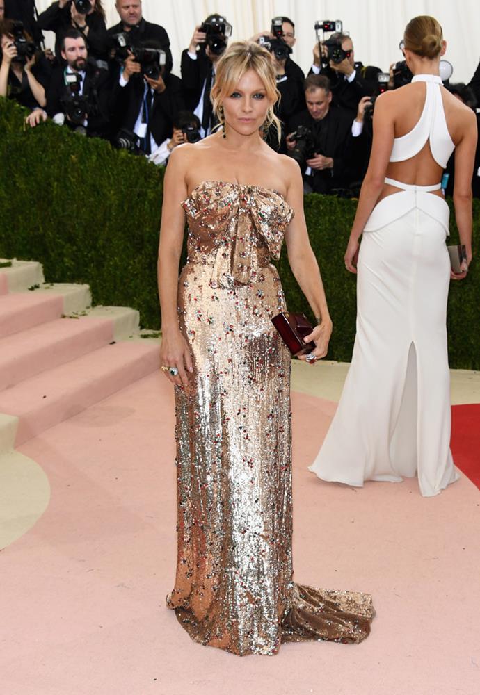 Sienna Miller at the Met Gala, 2016