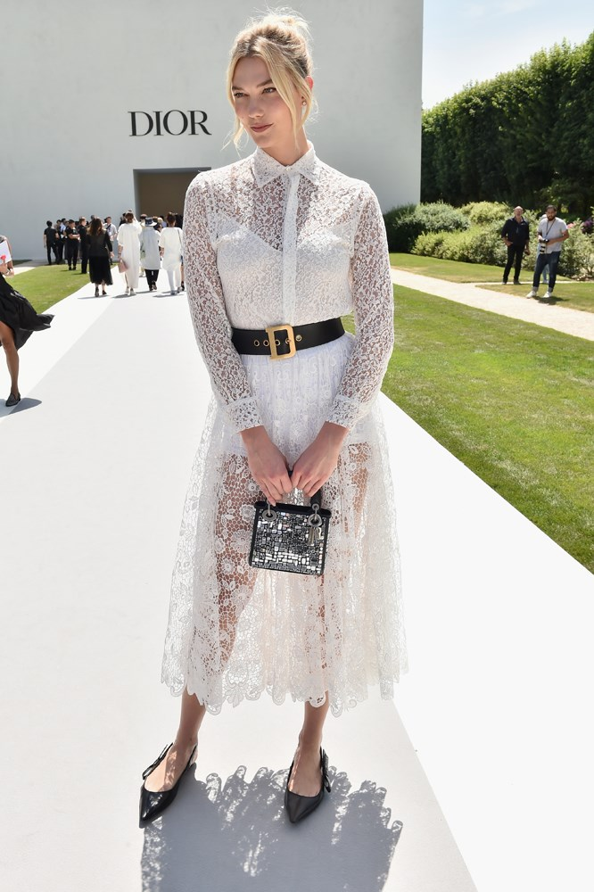 Karlie Kloss, at Christian Dior.