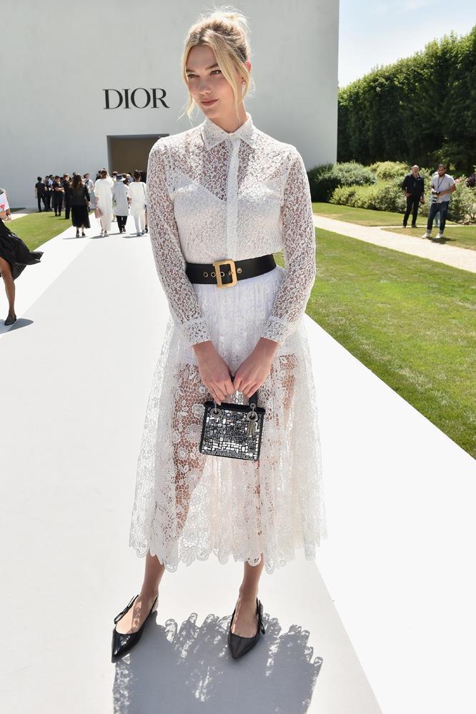 Karlie Kloss, at Christian Dior.