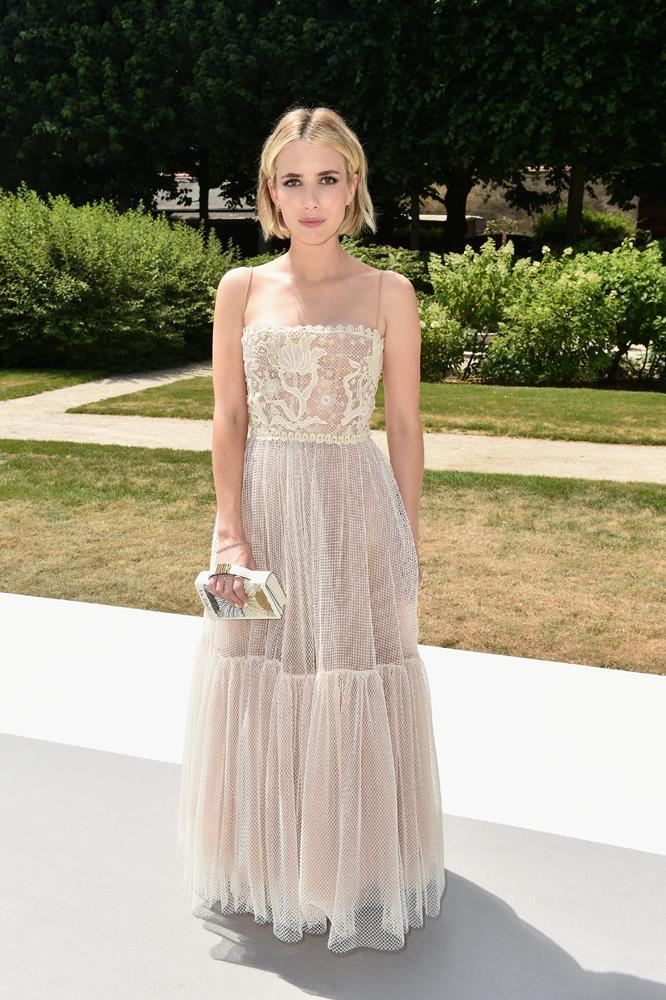 Emma Roberts, at Christian Dior.