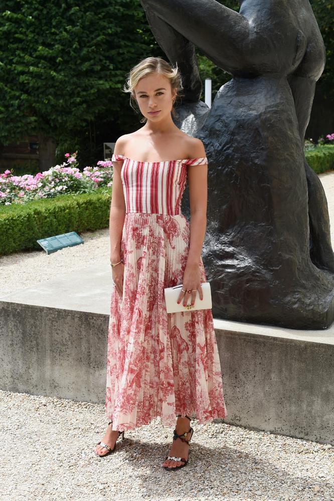 Lady Amelia Windsor, at Christian Dior.