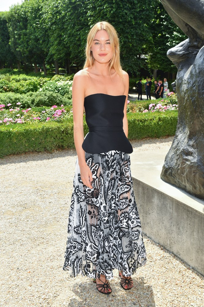Camille Rowe, at Christian Dior.