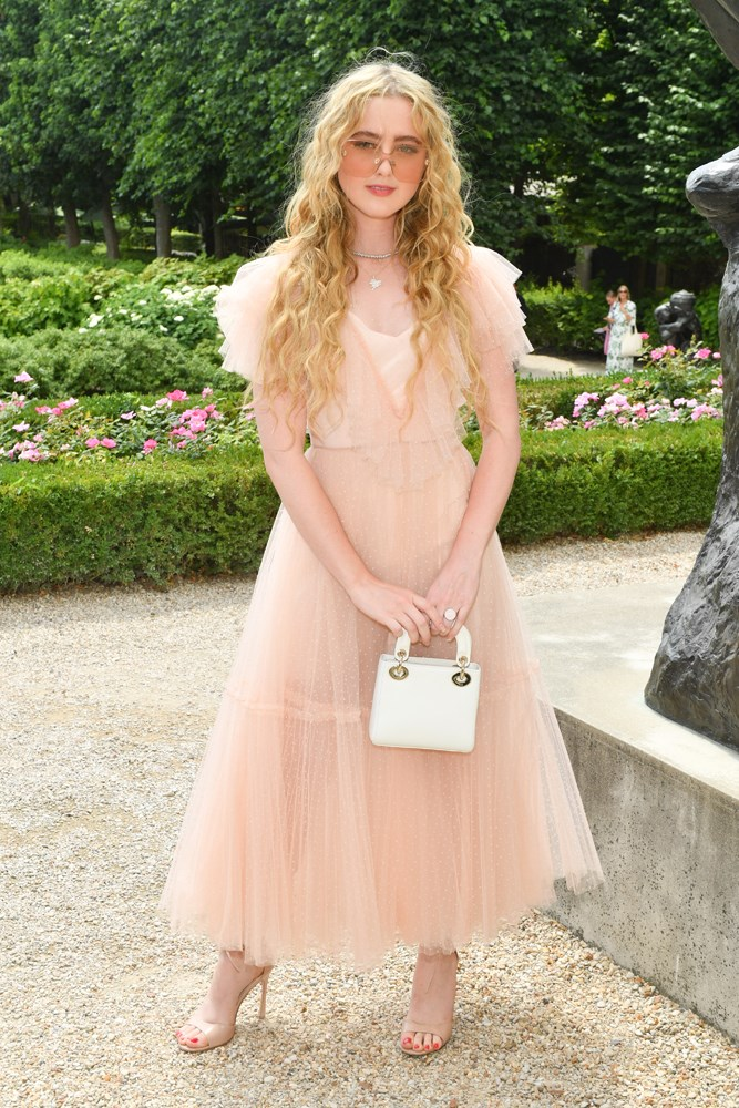 Kathryn Newton, at Christian Dior.