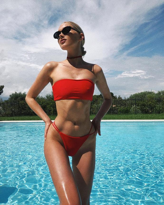 Elsa Hosk vacations in Cannes.