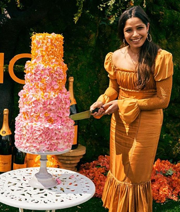 Freida Pinto at the Veuve Clicquot Polo Classic last month.