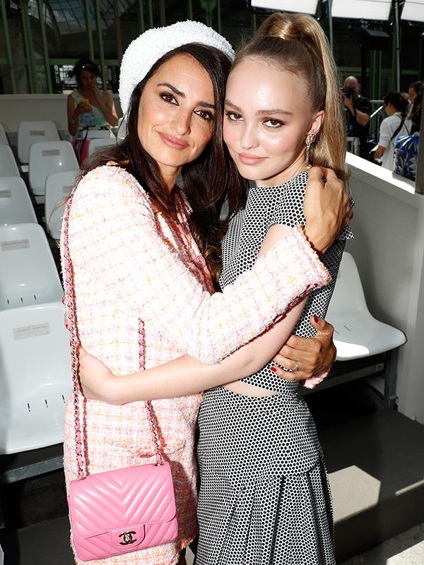 Penelope Cruz and Lily-Rose Depp, at Chanel.