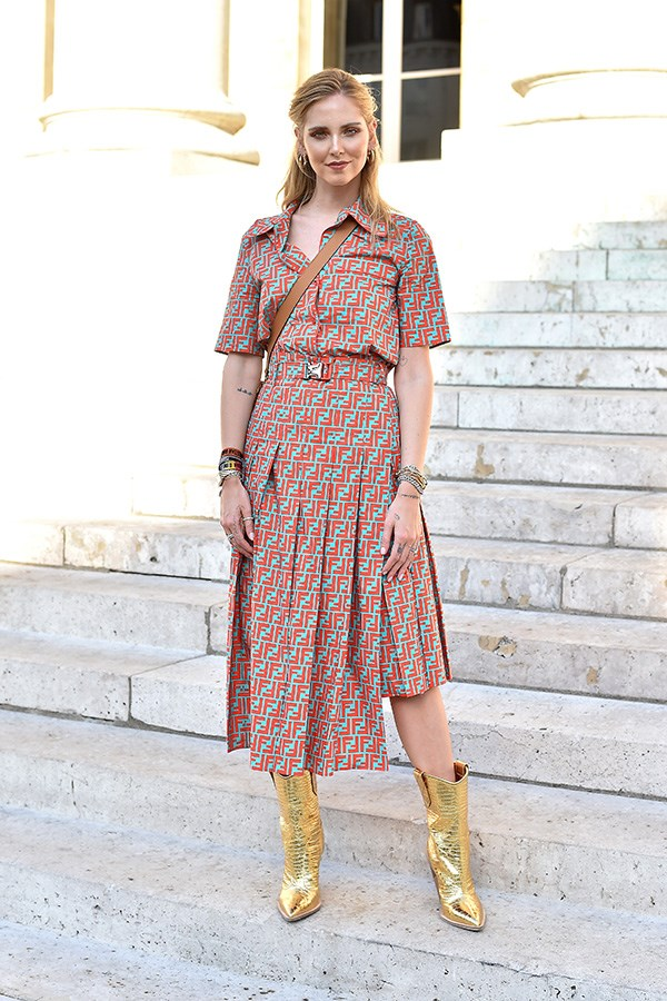 Chiara Ferragni, at Fendi.