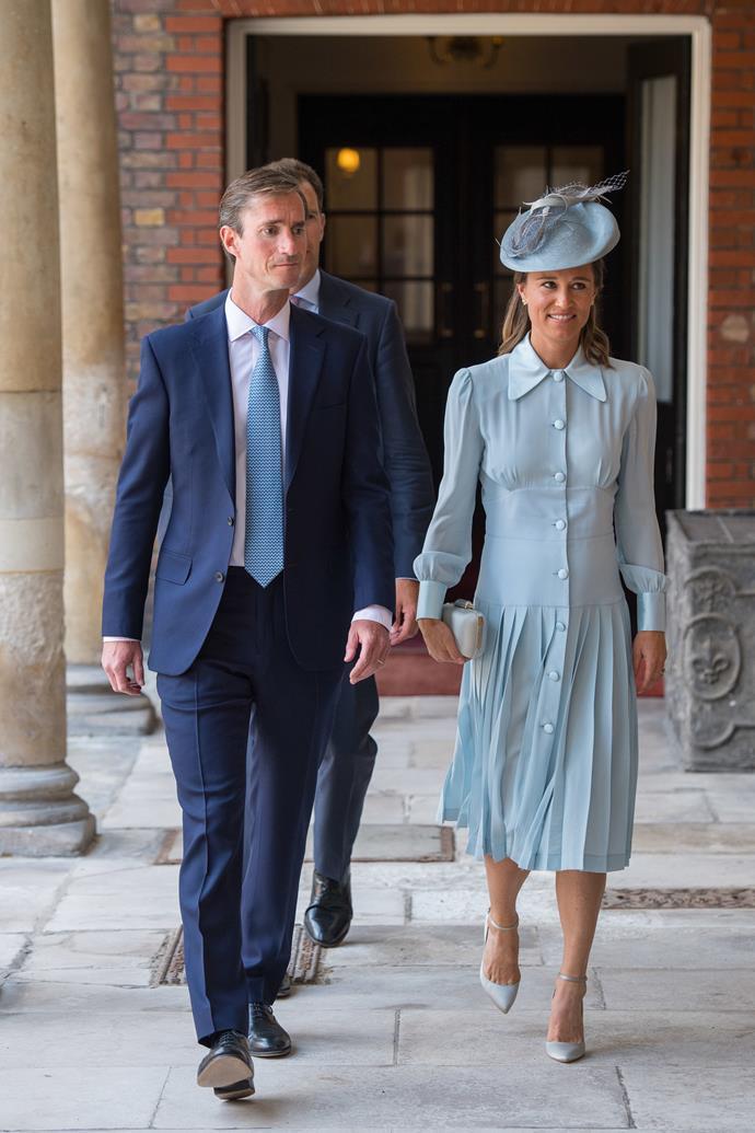 Pippa Matthews, in all baby blue.