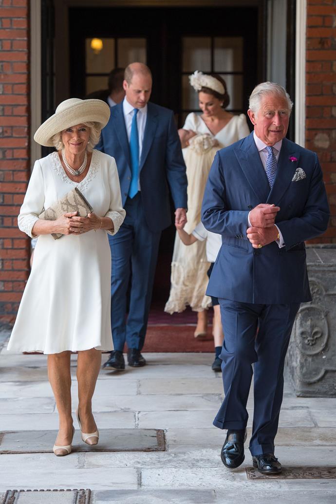 Camilla, Duchess of Cornwall, in all cream.
