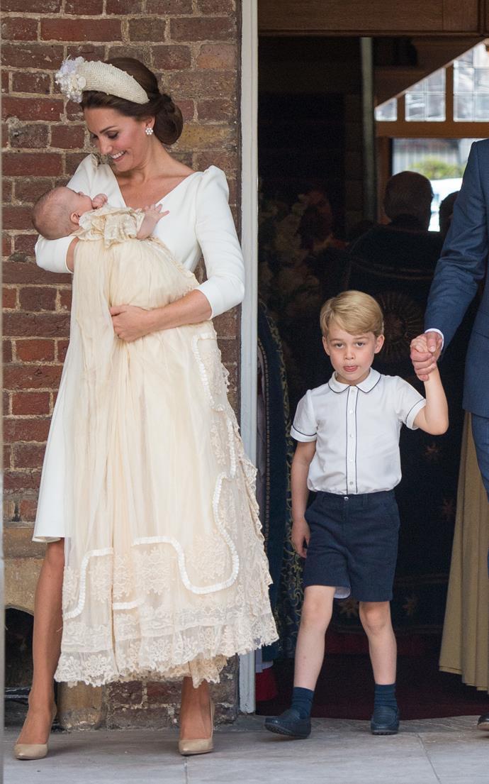 Catherine, Duchess of Cambridge, in all cream.