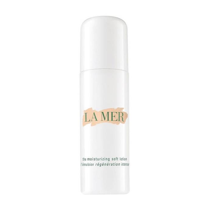 """**La Mer The Moisturising Soft Lotion, $370 at [MECCA](https://www.mecca.com.au/la-mer/the-moisturising-soft-lotion/I-024981.html?gclid=Cj0KCQjw-JvaBRDGARIsAFjqkkrswomkPsWY1hM-NRQjbPQblh5KLXw5H2Q-qTaMhs-R5SpjXwkiQ4waAjolEALw_wcB