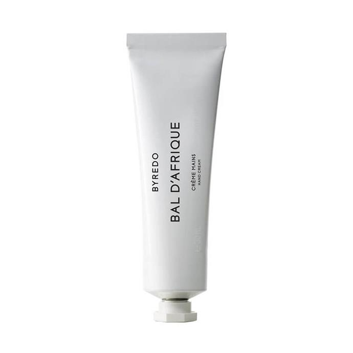 """**Byredo Bal D'Afrique Hand Cream, $48 at [MECCA](https://www.mecca.com.au/byredo/hand-cream-bal-dafrique/I-019969.html