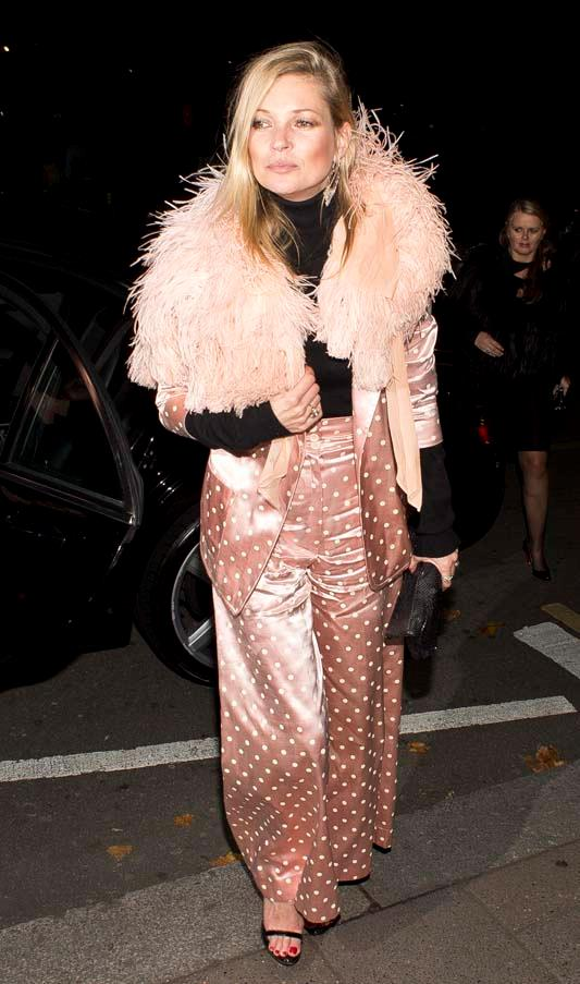 Arriving at Annabel's nightclub in London, October 2014.