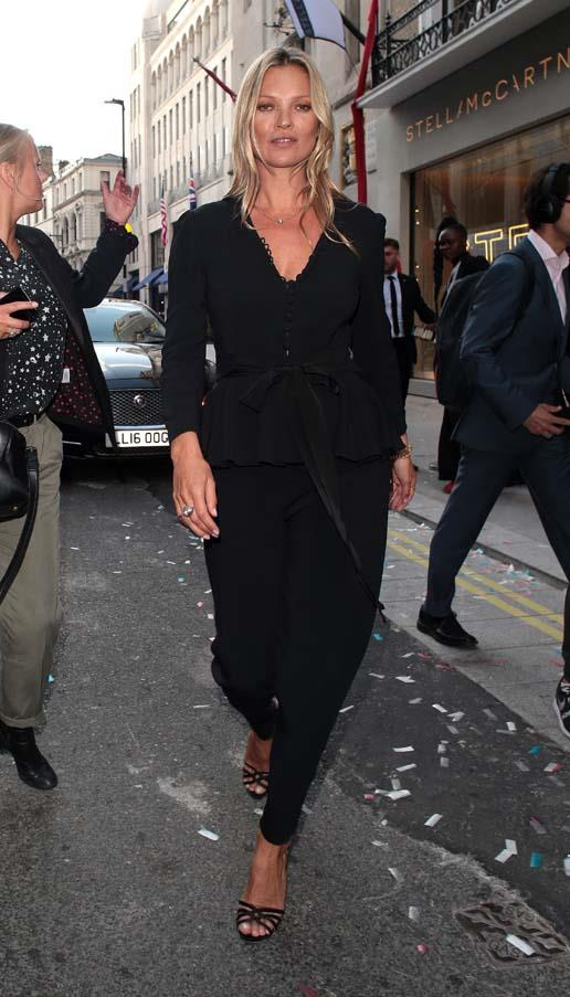At the launch of Stella McCartney's flagship store in London, June 2018.
