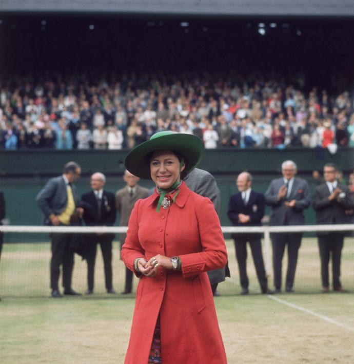 Princess Margaret at Wimbledon in 1970.
