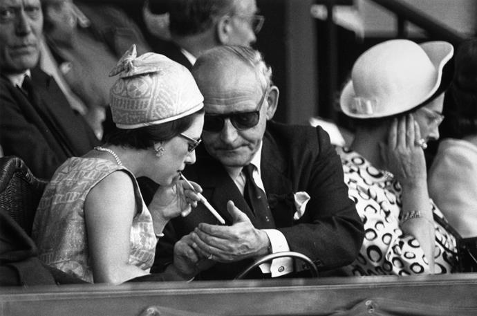 Princess Margaret at Wimbledon in 1966.