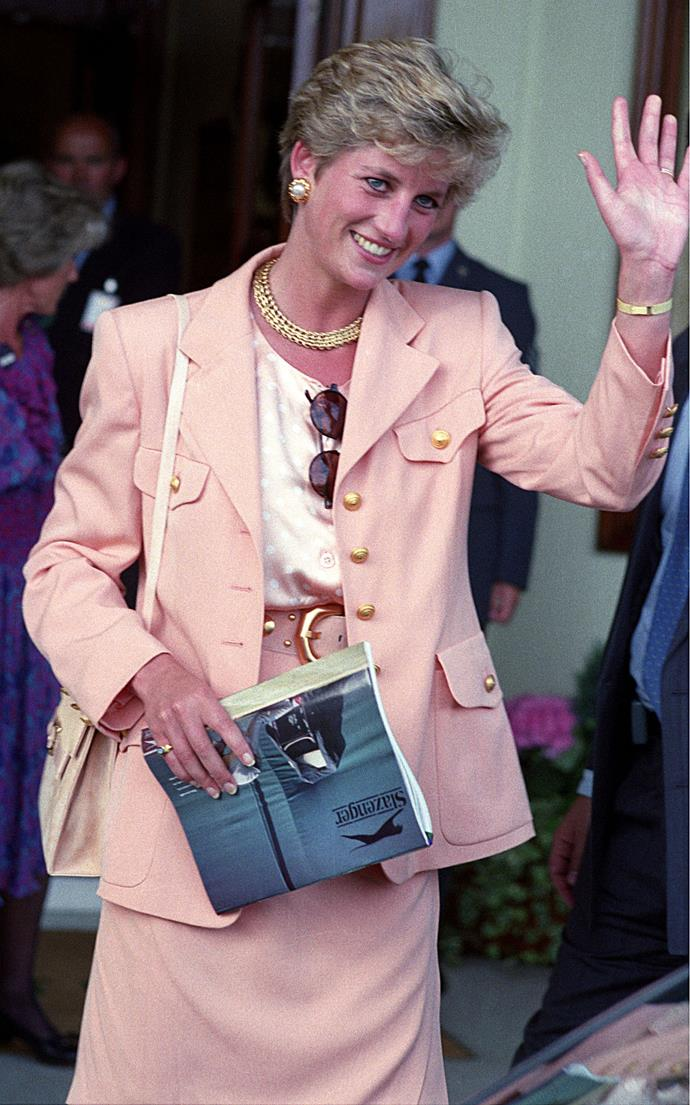Princess Diana at Wimbledon in 1993.