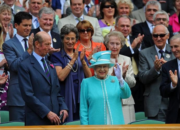 Queen Elizabeth II at Wimbledon in 2010.