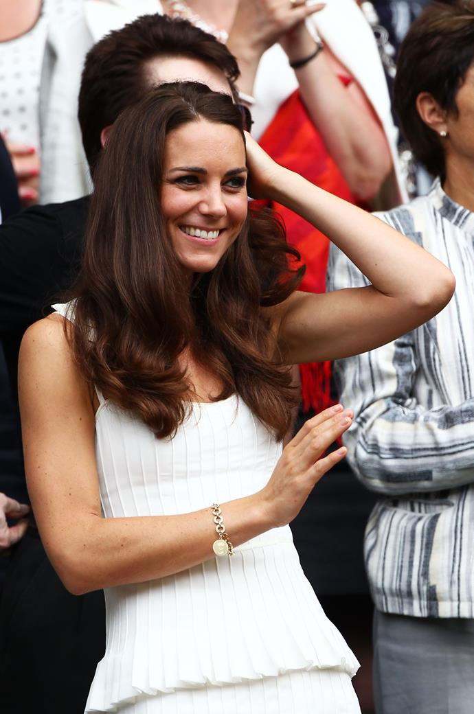 Kate Middleton at Wimbledon in 2011.