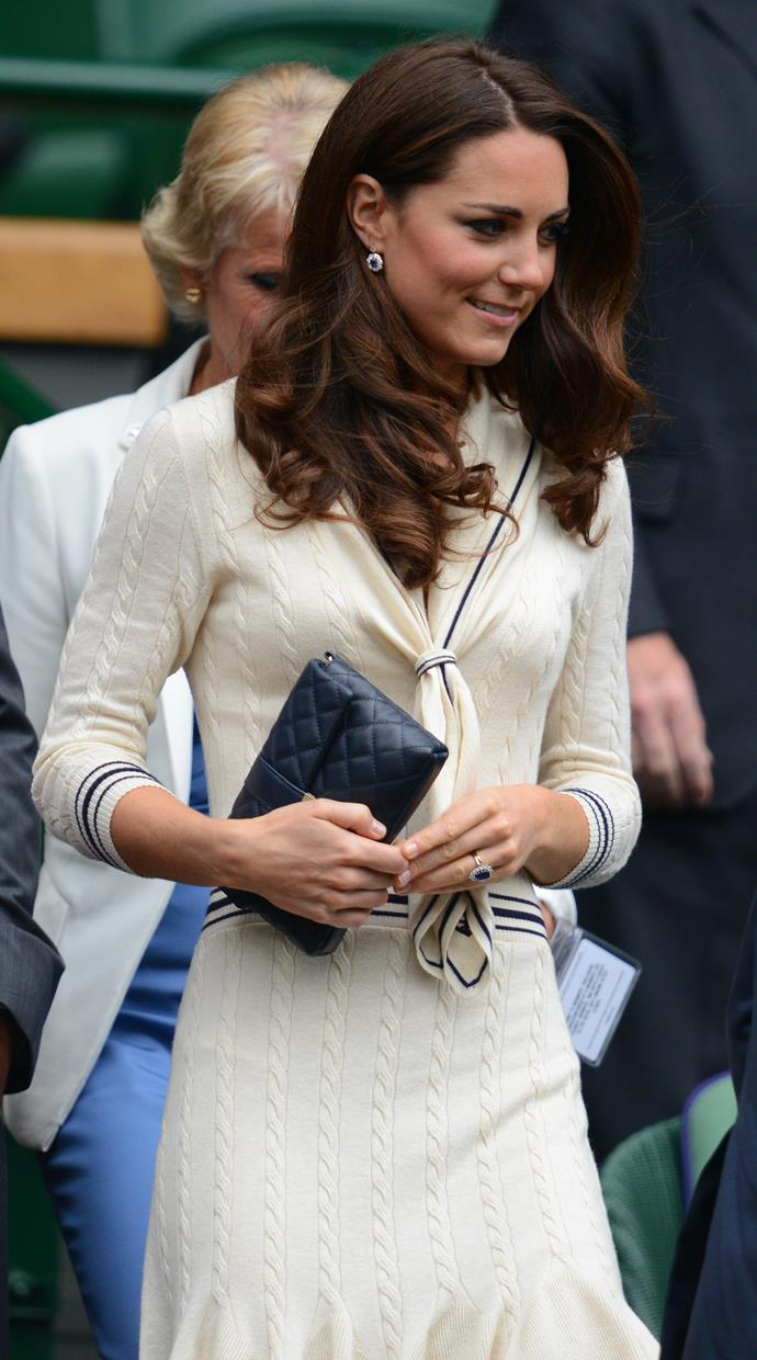 Kate Middleton at Wimbledon in 2012.