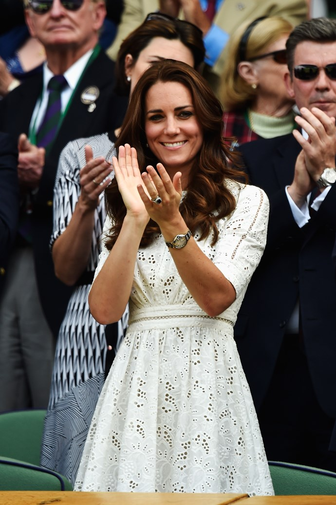 Kate Middleton at Wimbledon in 2014.
