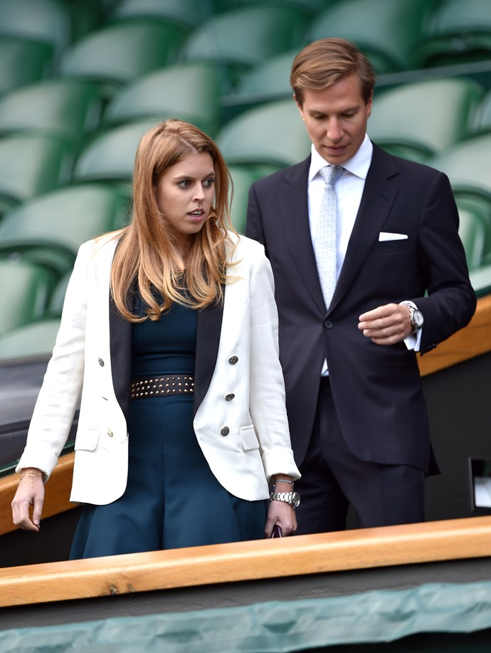 Princess Eugenie at Wimbledon in 2014.