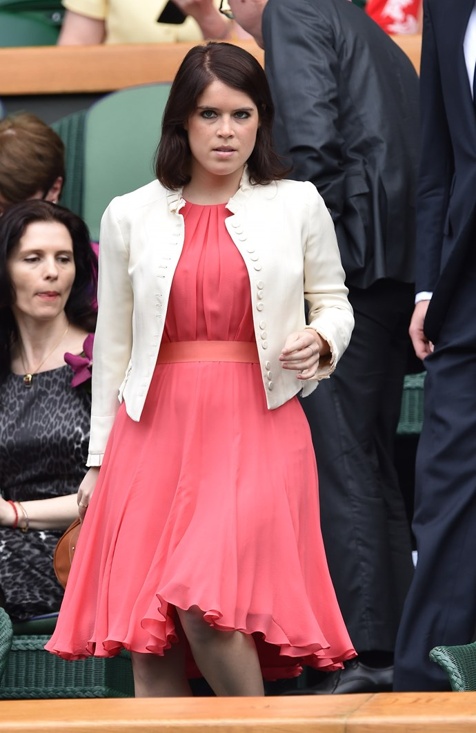 Princess Beatrice at Wimbledon in 2014.