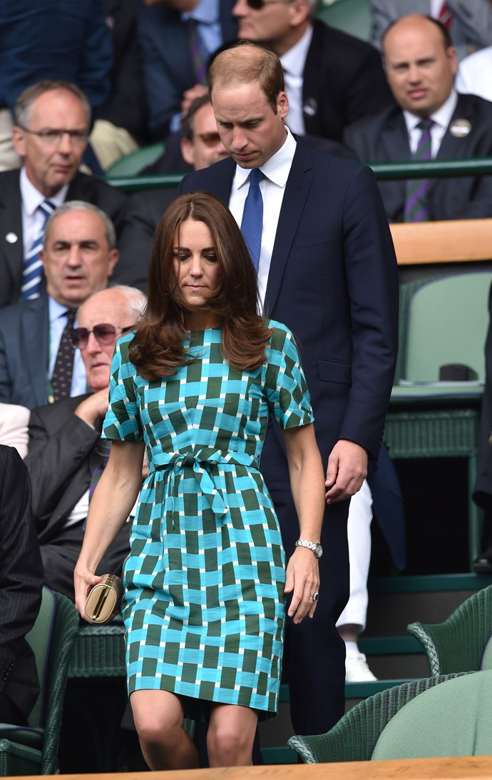 Prince William and Kate Middleton at Wimbledon in 2014.