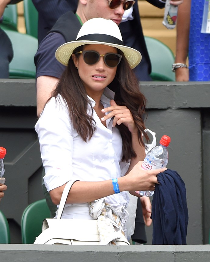 Meghan Markle at Wimbledon in 2016.