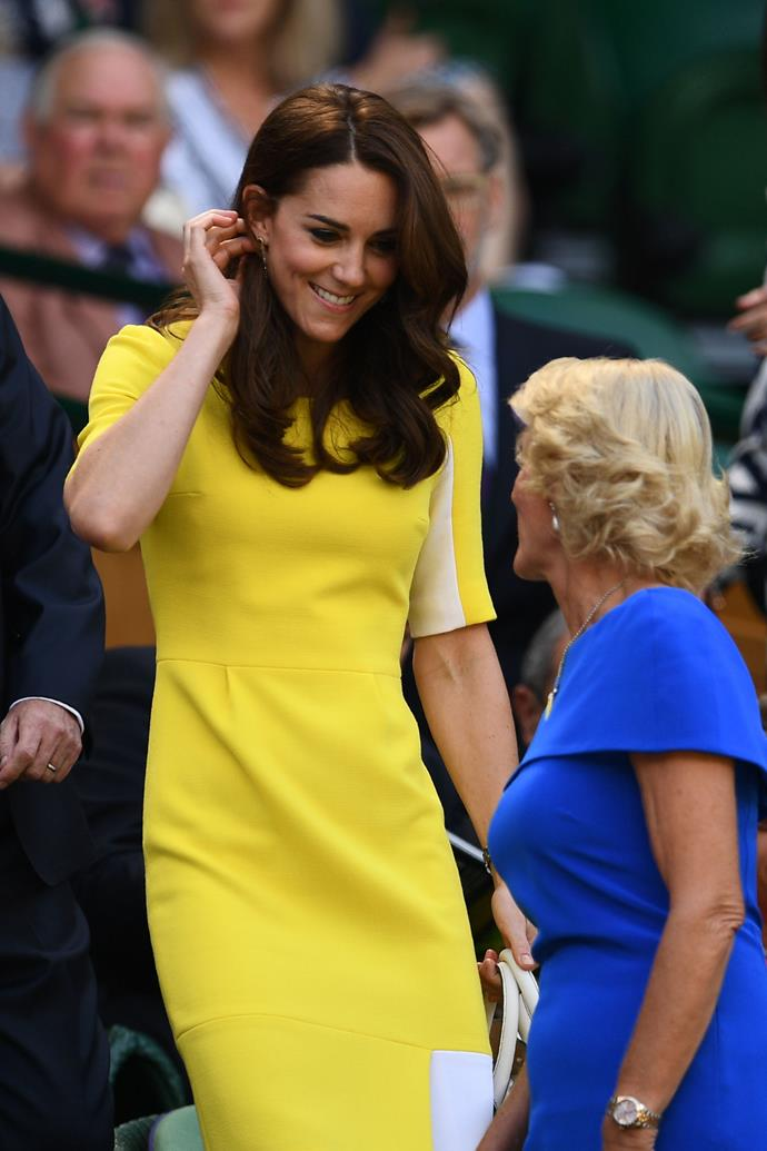 Kate Middleton at Wimbledon in 2016.