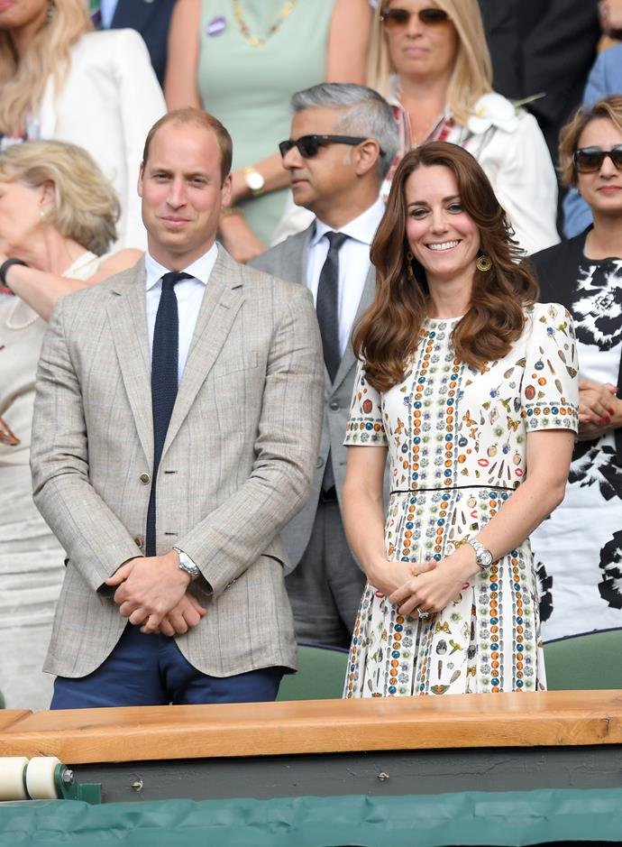 Prince William and Kate Middleton at Wimbledon in 2016.