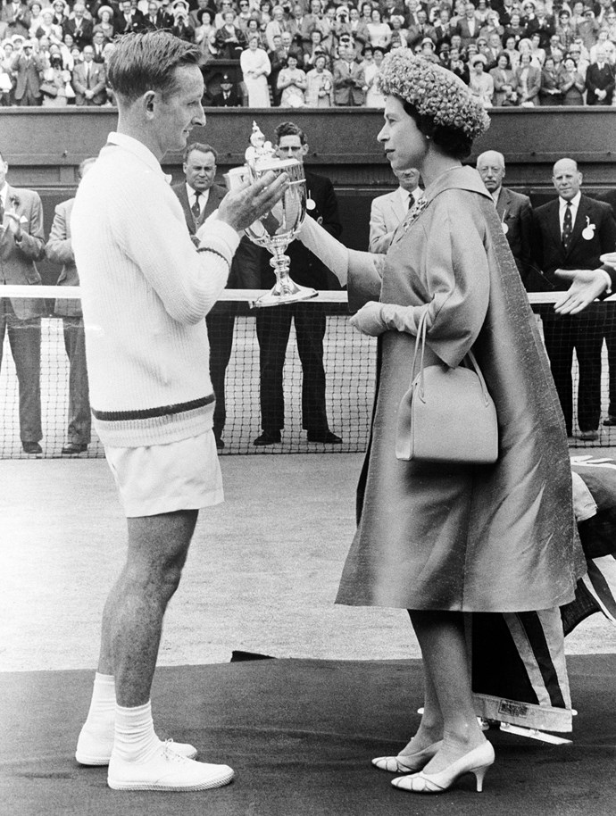 Queen Elizabeth II at Wimbledon in 1962.