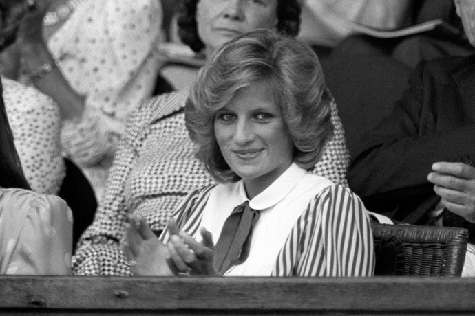 Princess Diana at Wimbledon in 1984.