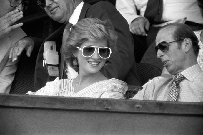 Princess Diana at Wimbledon in 1986.